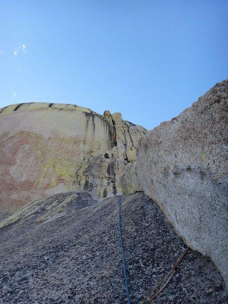 Rock Climbing Photo: P2 and beyond