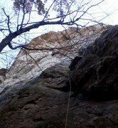 Rock Climbing Photo: Getting through the first crux.