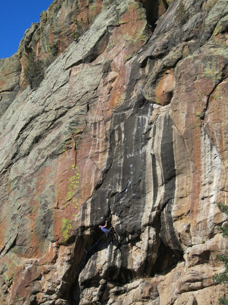 Rock Climbing Photo: Jim on The crux of Solitaire. The Black Solitaire ...
