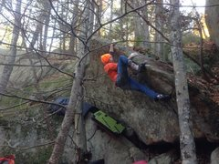 Rock Climbing Photo: Pete on the half-shell.