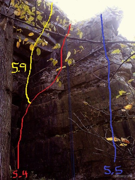Rock Climbing Photo: It is the blue line