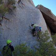 Rock Climbing Photo: Start of Sinbad original pitch.