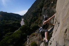 Rock Climbing Photo: good views from mid route