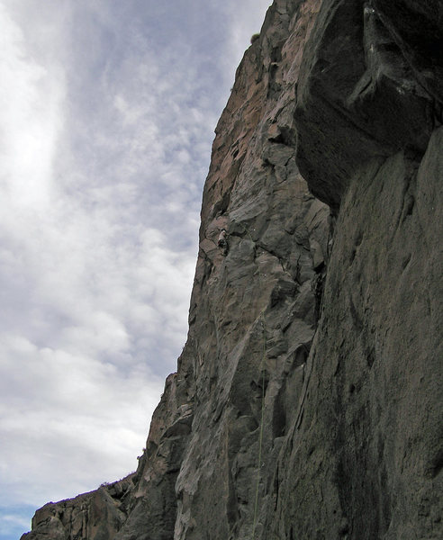 Nate Page starts climbing towards bolt 11.