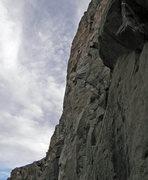 Rock Climbing Photo: Nate Page starts climbing towards bolt 11.