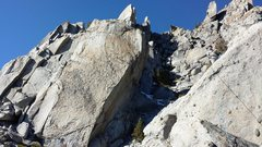 Rock Climbing Photo: Approaching the end of the short, 2nd pitch. The w...