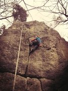 Rock Climbing Photo: On Crack past the crux...
