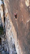 Rock Climbing Photo: Onsighting a Vegas classic.  Photo by Darshan.