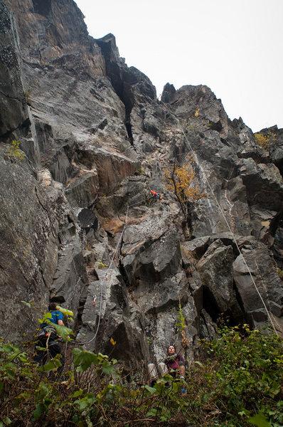 Rock Climbing Photo: A good view of the beginning.