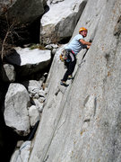 Rock Climbing Photo: Andy getting spicy on Pins, Bashies, Matches and B...