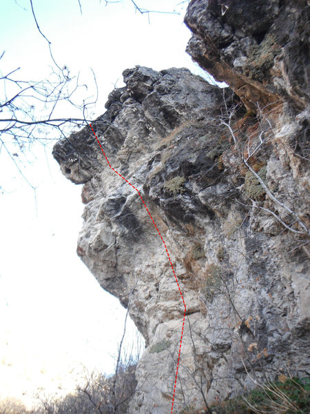 Rock Climbing Photo: kinda looks like a face.... but this shows how ste...