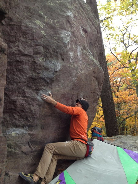 Rock Climbing Photo: Randy about to crush the Haunting from the proper ...