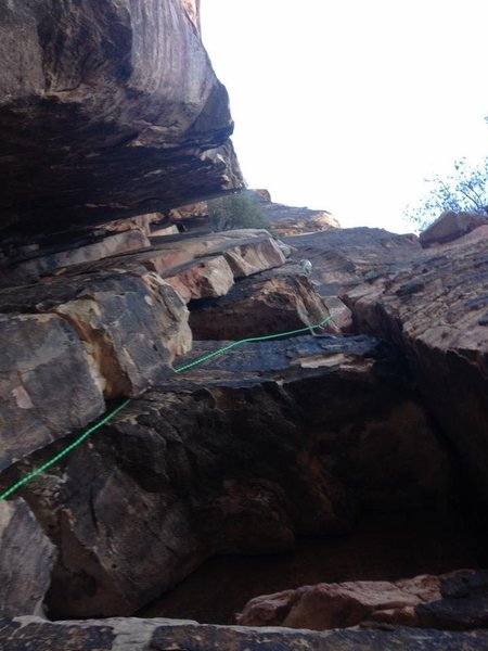 Rock Climbing Photo: Looking up from the first pitch...