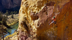 Rock Climbing Photo: climber on blue light special