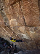 Rock Climbing Photo: catching a potato peeler of a gaston in the seam.