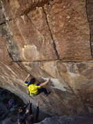 Rock Climbing Photo: Pushing out to the crimp in the horizontal.