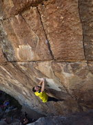 Rock Climbing Photo: Matching the crimp, this and the next move are whe...
