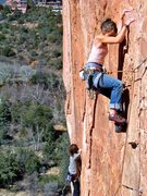 Rock Climbing Photo: Fire wall in Sedona