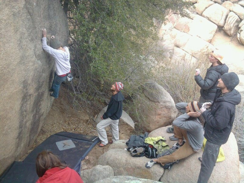 coarse granite in nowhere desert Arizona... kinda fun!