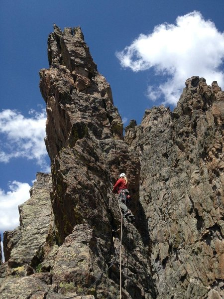 Rock Climbing Photo: Final pitch of the petit grepon