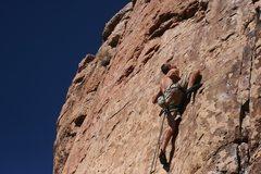 Rock Climbing Photo: G. Parker sending.