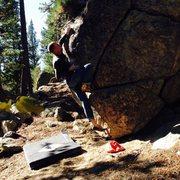 Rock Climbing Photo: Reaching the Crystal!