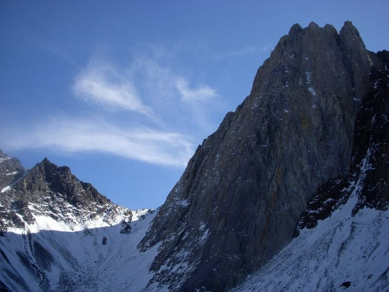 The spectacular north face of Mount Morrison.