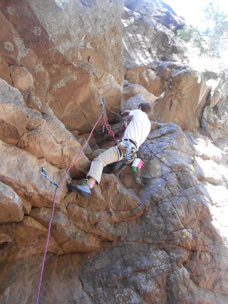My first full lead climb, a bit of a scary start, but nothing too much.