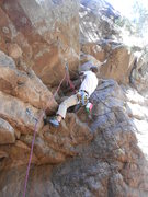 Rock Climbing Photo: My first full lead climb, a bit of a scary start, ...