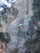 Rock Climbing Photo: Savannah's first lead climb, ended up taking a swe...