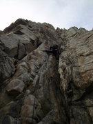 Rock Climbing Photo: The corner on pitch 3.