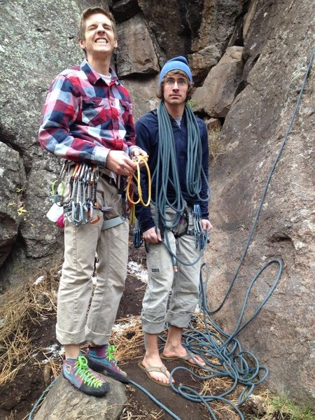 Rock Climbing Photo: Brian and I