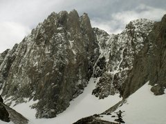 Rock Climbing Photo: A fully formed up Death Couloir.
