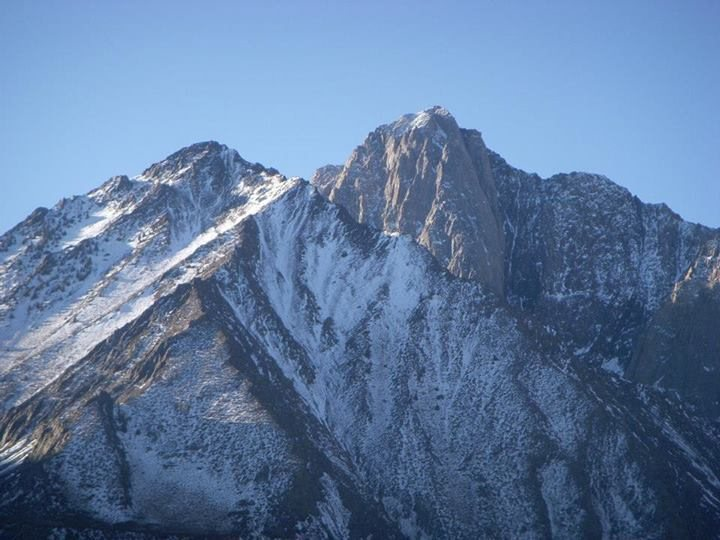 Rock Climbing Photo: Mount Morrison peaking out from behind Mini Morris...