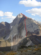 Rock Climbing Photo: Mount Morrison with the NW Ridge highlighted.