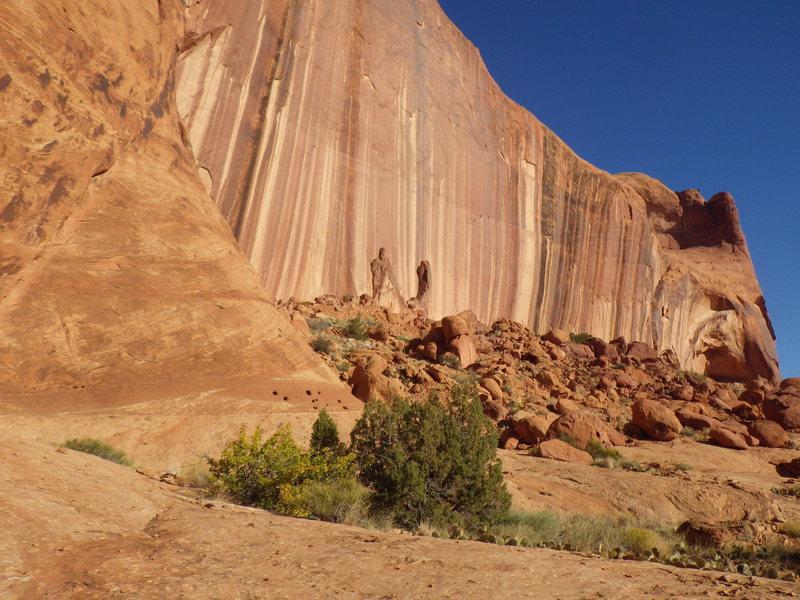 Rock Climbing Photo: L to R, kings hand, konichiwa, easy ramp, tea bag,...