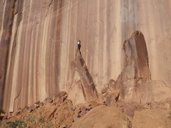 Rock Climbing Photo: up on it