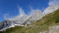 Rock Climbing Photo: Gruttenhütte, the highest hut in the range