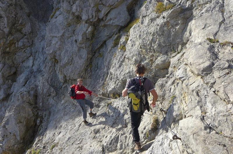 Rock Climbing Photo: the Bavarians goofing off on the Jubiläumssteig v...
