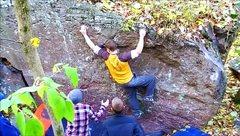 Rock Climbing Photo: Traverse on crimps.