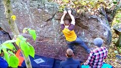 Rock Climbing Photo: Move to two small sharp crimps.