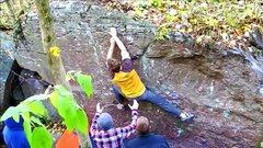 Rock Climbing Photo: Cross into another crimp.