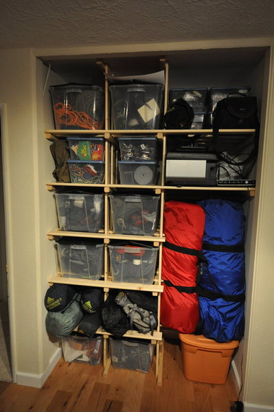 Rock Climbing Photo: gear closet 4