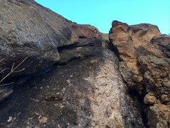 Rock Climbing Photo: Pitch 2. Hand and fist crack to the left.