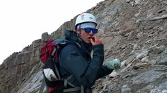 Rock Climbing Photo: Found some food on the backside of Long's Peak. Du...