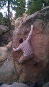Rock Climbing Photo: Dang those crimp are sharp.