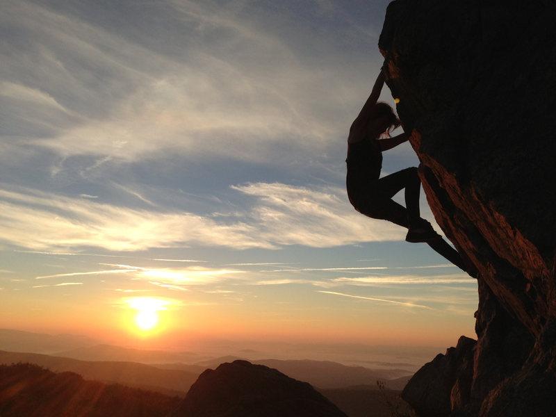 Sunrise Bouldering in the Highlands