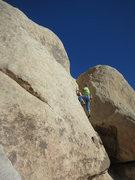 Rock Climbing Photo: Rick starting up the 2nd pitch of Elijah's Com...