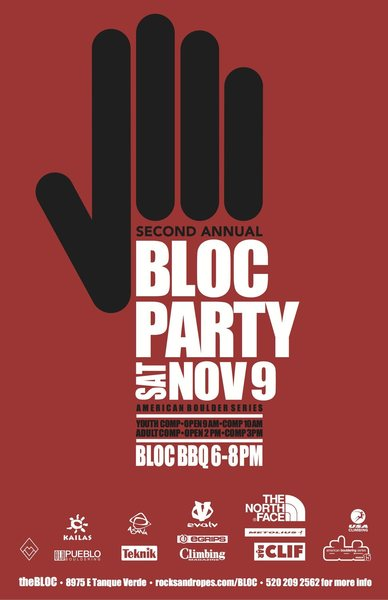 BLOC party poster
