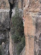 Rock Climbing Photo: Battling the arete.
